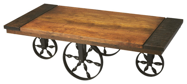 Nice Wagon Cocktail Table   Multi Color Industrial Coffee Tables