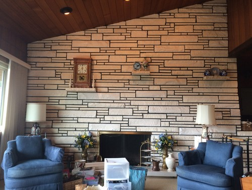 1950s sandstone fireplace remodel? on kitchen designs with rock fireplace, natural stacked stone veneer fireplace, kitchen with cozy fireplace,