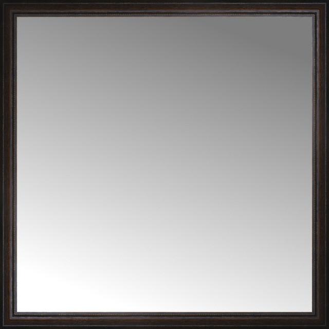 "Bathroom Mirrors 30 X 48 48"" x 48"" custom framed mirror - traditional - wall mirrors -"