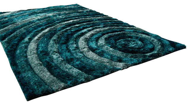 Cyan Design Girare Arte Blue Rug Bulls Eye Teal