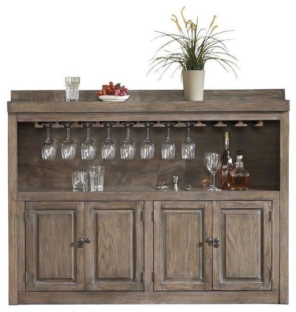 Home Bar Design Ideas Houzz: Martino Back Bar, Glacier