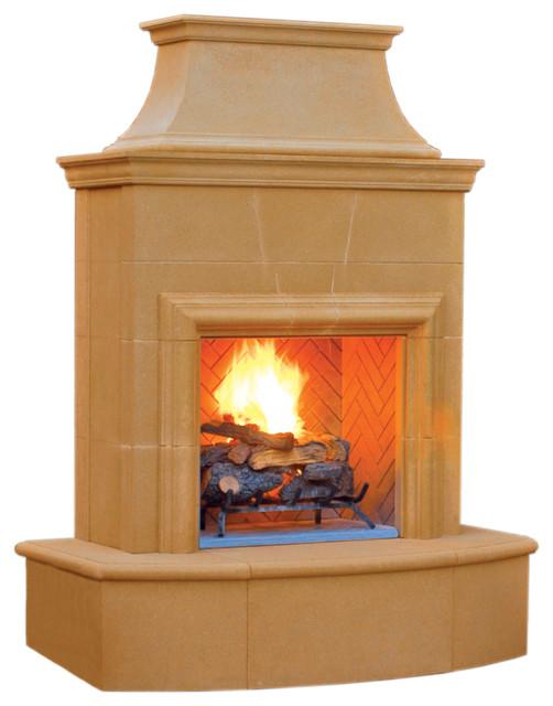Shop Houzz American Fyre Petitie Cordova Fireplace Outdoor Fireplaces