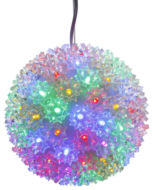 "7.5"" Starlight Sphere Christmas Ornament,100 Multi-Colored Wide Angle Led Lights."