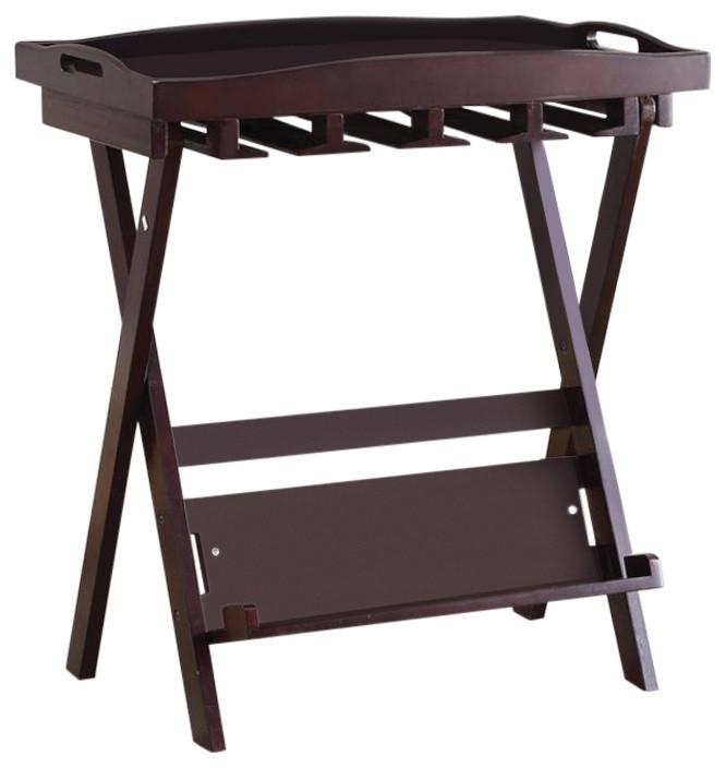 Pleasant Folding Tray Table Espresso Beatyapartments Chair Design Images Beatyapartmentscom