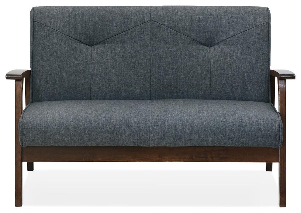 Brilliant Mid Century Vintage Compact Loveseat Machost Co Dining Chair Design Ideas Machostcouk