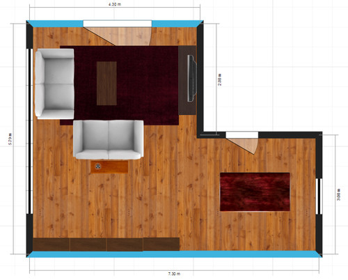 L shaped lounge roomdining room help please