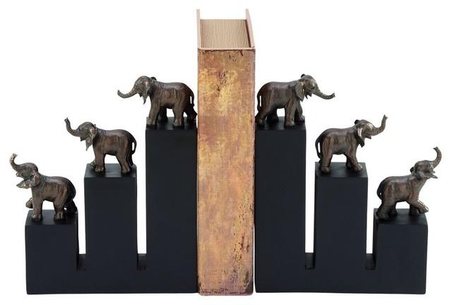 Polystone Elephant Bookends, 8