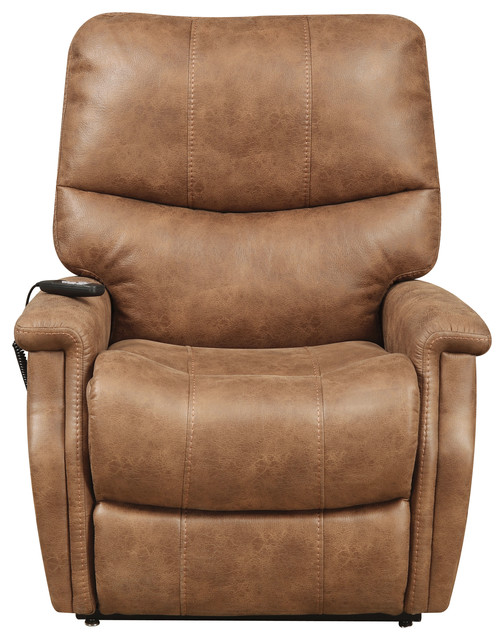 r2h andreanna leather lift chair badlands saddle brown lift chairs