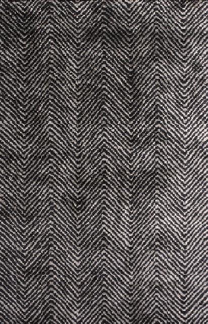 Plushrugs Imports Brilliance 4205 Ztq 8 X10 Light Grey Charcoal Rug