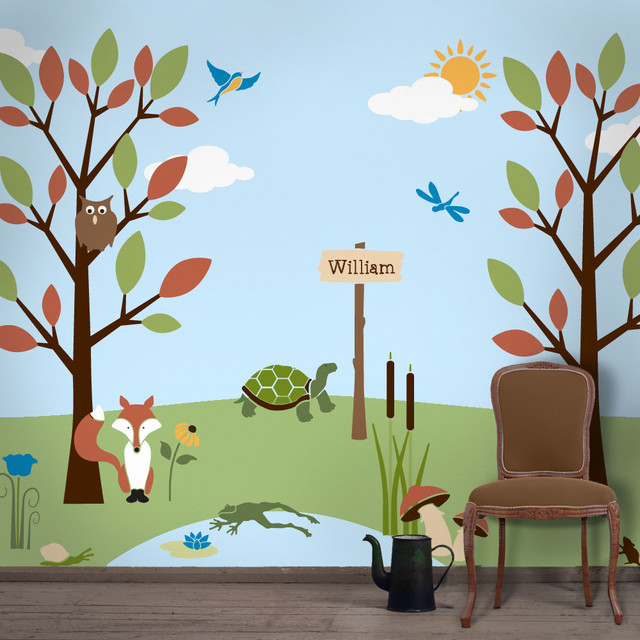 Forest Friends Wall Stencil Kit For Painting Contemporary Stencils
