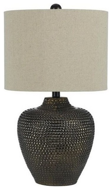 Danbury Ceramic Table Lamp, Brown.