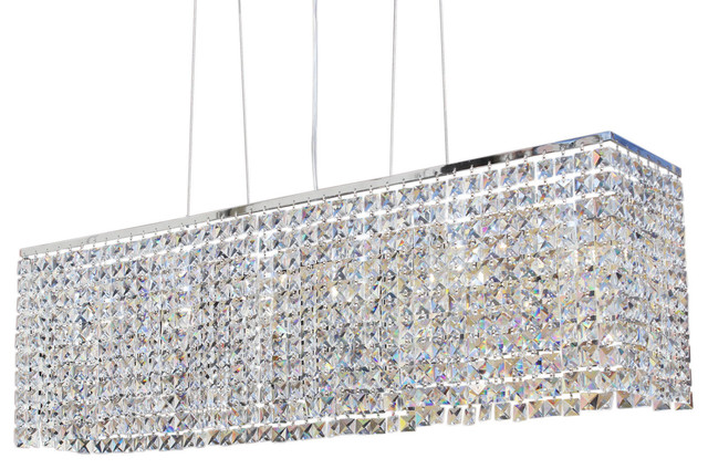 40 Rectangular Dining Room Crystal Chandelier