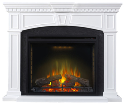 Napoleon Ascent Electric Fireplace With Taylor Mantel.