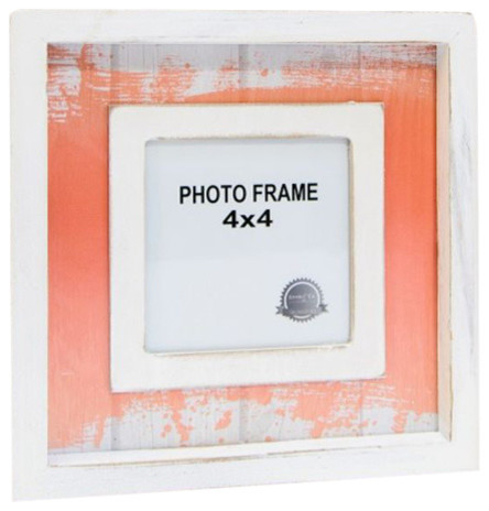 watercolor wood shadow box frame for 4x4 photo white - White Shadow Box Frame