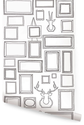Frames Wallpaper, 1 Sheet - Eclectic - Wallpaper - by Simple Shapes