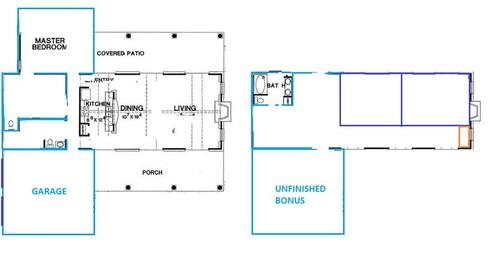T shaped farmhouse floorplan - T shaped house plans ...