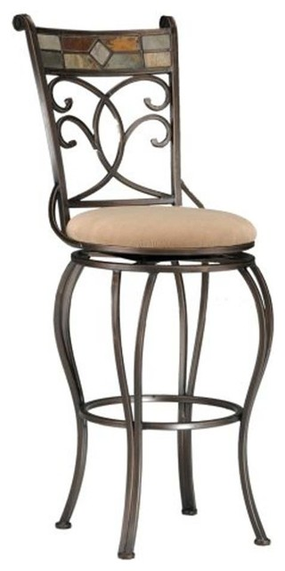 Pompeii Swivel Stool Mediterranean Bar Stools And