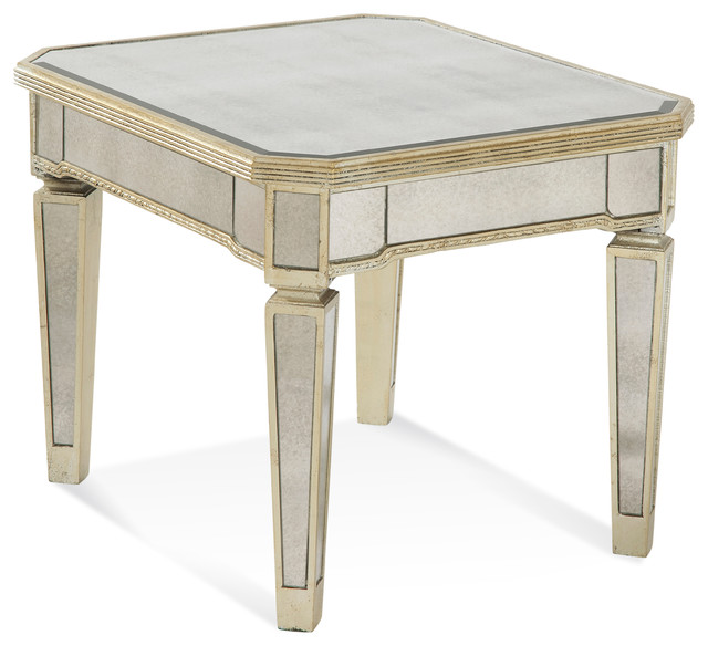 Borghese Mirrored Rectangle End Table traditional-side-tables-and-end-tables - Borghese Mirrored Rectangle End Table - Traditional - Side Tables