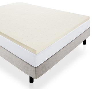 "Lucid 2"" Ventilated Memory Foam Mattress Topper - Contemporary - Mattress Toppers And Pads - by ..."