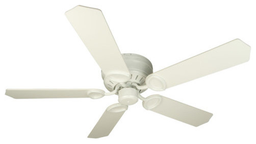 Craftmade K10198 Universal Hugger Indoor Ceiling Fan With Five 52 Standard Whit.