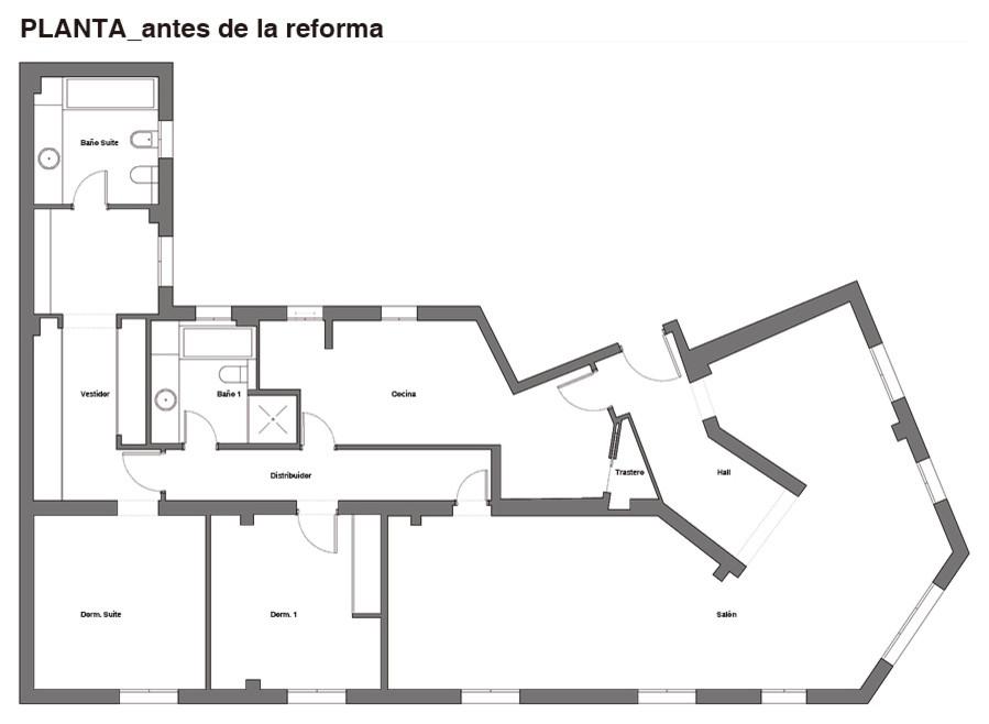 Plano Antes de la Reforma.