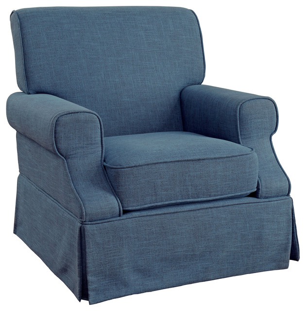 Elma Transitional Linen Like 360 Swivel Glider Rocker