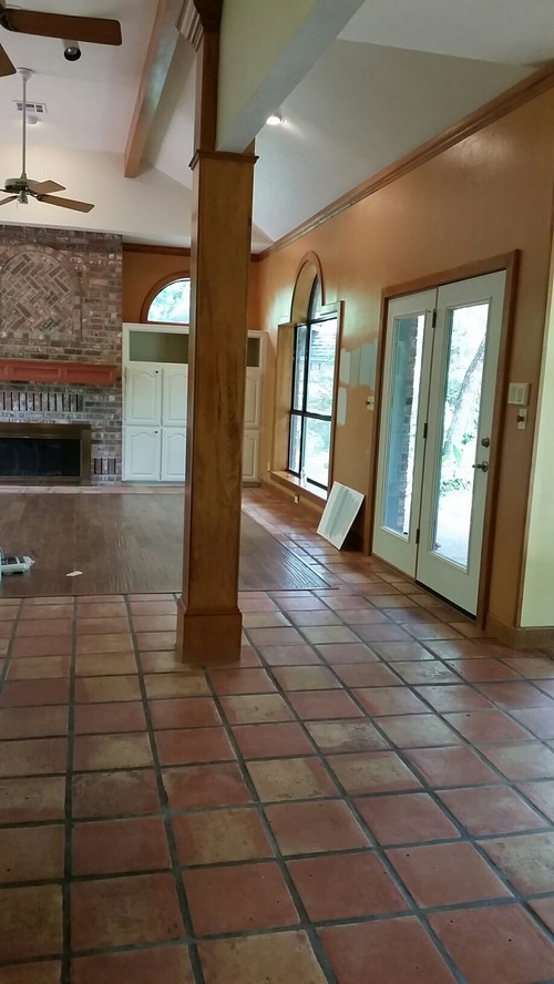 Oak Trim And Saltillo Tile