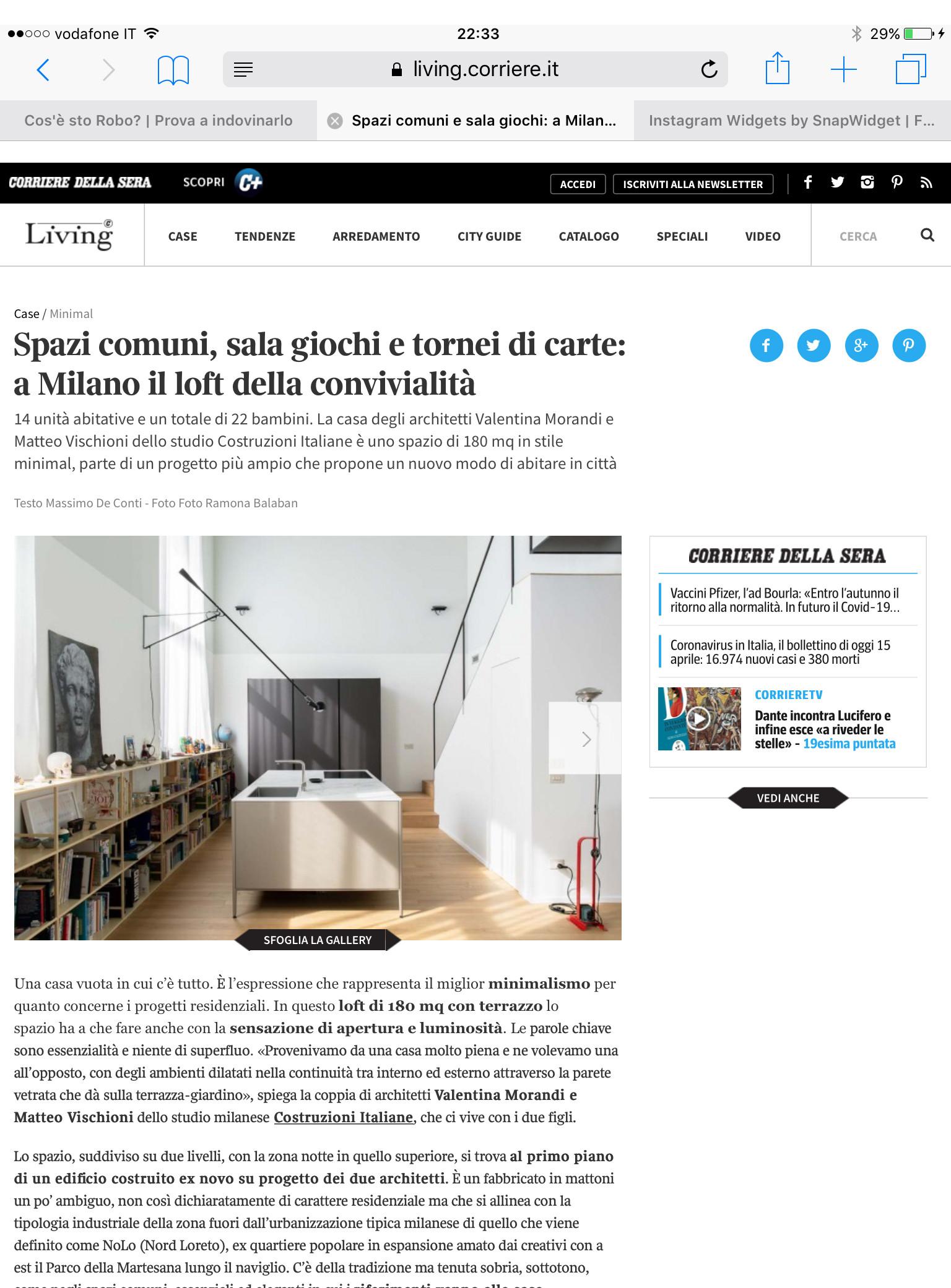 Pubblicazioni   Living Corriere