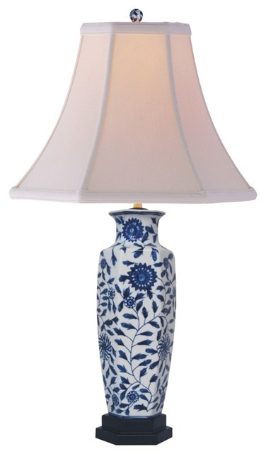 Striped lamp shades asian bedside oriental table lamp shadesebay oriental lamp shades on asian blue and white porcelain slim vase bell shade table lamp modern mozeypictures Choice Image