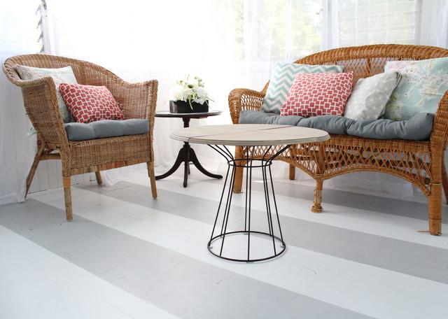 diy comment peindre des rayures sur un parquet. Black Bedroom Furniture Sets. Home Design Ideas