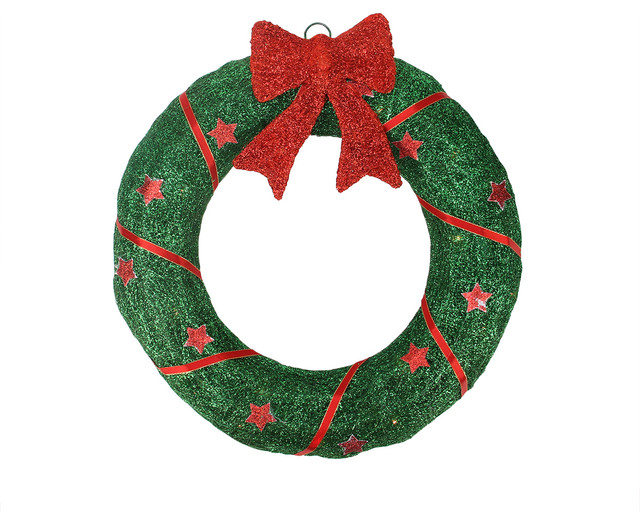 Lighted outdoor green sisal wreath with bow 46 wreaths and lighted outdoor green sisal wreath with bow 46 aloadofball Image collections