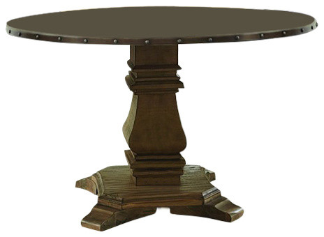 Anna Claire Round Dining Table, Zinc Top traditional-dining-tables - Anna Claire Round Dining Table, Zinc Top - Traditional - Dining