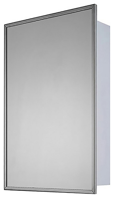 "Deluxe Series Medicine Cabinet, 20""x30"", Bright Annealed Stainless Steel Frame"