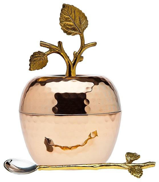 Godinger Copper Leaf Honey Dish.