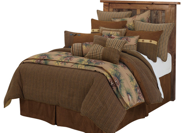 Pinecone Design Comforter Set Rustic Comforters And Comforter Sets By Bitterroot Bit And Spur