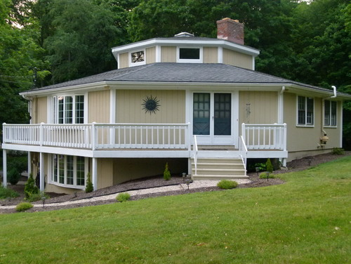Octagon shaped house need help deciding on exterior for House planning help