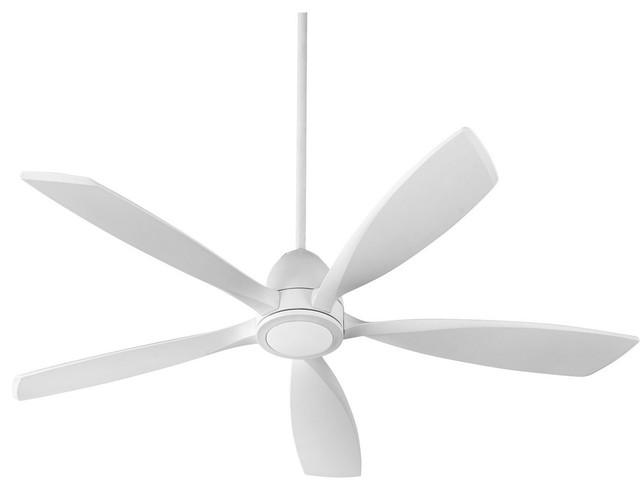Quorum Holt 56 Inch 5-Blade Led Indoor Ceiling Fan In Studio White.