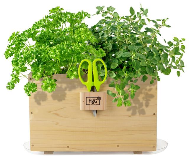 Indoor Herb Planter Box Part - 20: Window Box Planter Contemporary-indoor-pots-and-planters