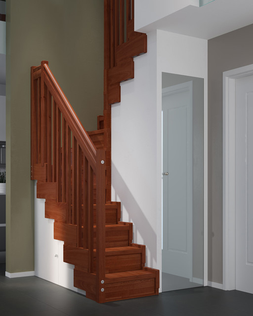 Superb Space Saving Stairs Transitional Staircase