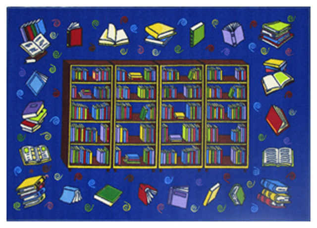 Reading Time Rug, Multi-Color, 39x58.