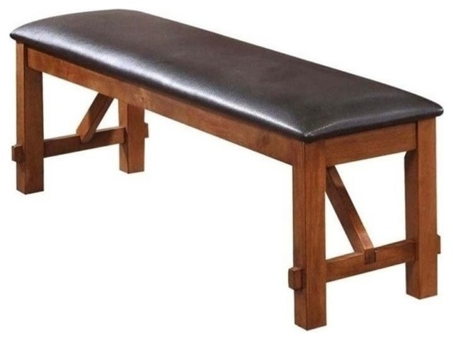 1perfectchoice Bowery Hill Bench, Walnut. -1