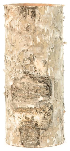 Large Birch Bark Cylinder Vases Rustic Vases By Serene Spaces