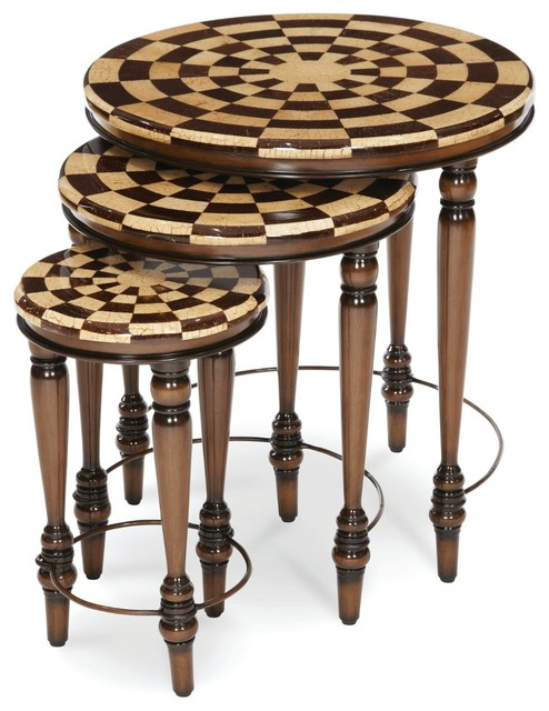 Aico Michael Amini Discoveries Series A 003 Nesting Tables Traditional Coffee Table Sets