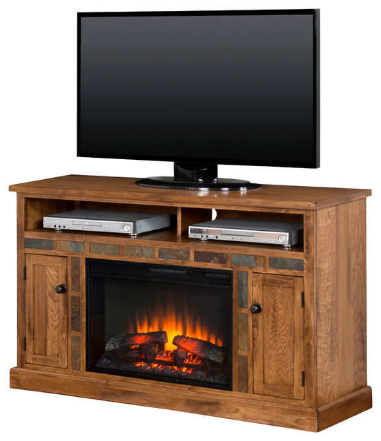 Sedona Fireplace Media Console Southwestern