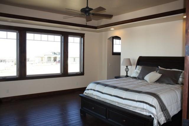 Black trim bedroom