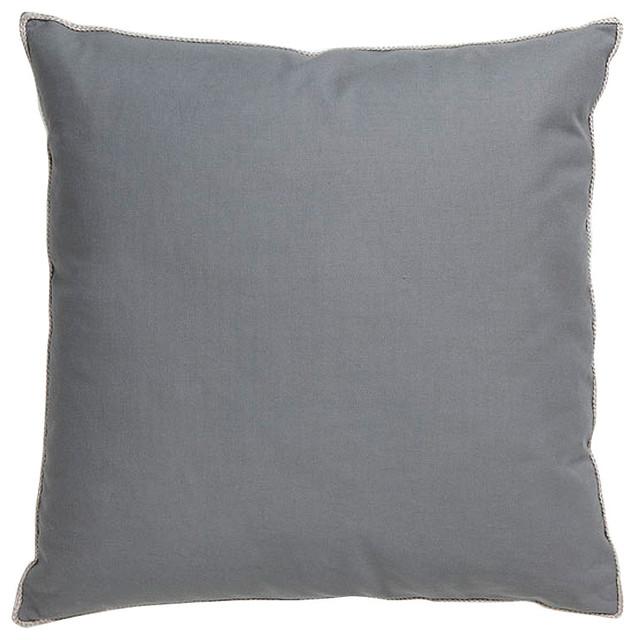 Villa Home Basic Elements Dark Grey Throw Pillow Contemporary Beauteous Villa Decorative Pillows