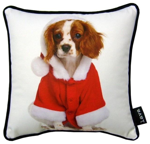 """Christmas King Charles 8070 Pillow, 12""""x12"""""""