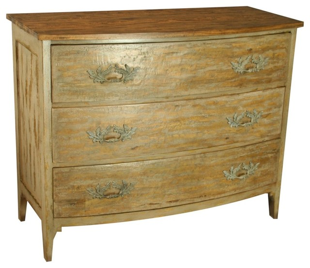 Swedish Style Bow Front 3-Drawer Chest.