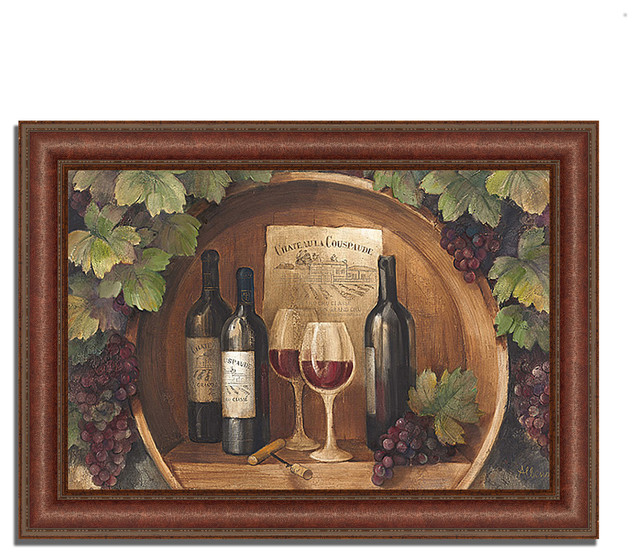 At The Winery By Albena Hristova Framed Painting Print Ready To Hang Traditional Prints And Posters By Tangletown Fine Art