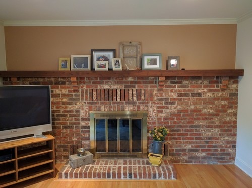 Updating 80 S Style Fireplace
